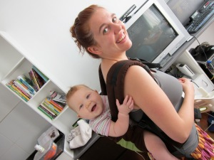 Luella loves baby-wearing too!