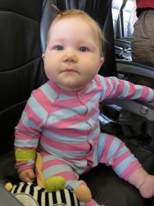 Luella's first flight