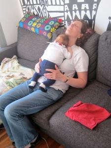 As a former midwife, Nanna's also got the magic touch fir getting Luella to nap!