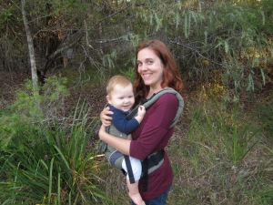 This bushwalk brought to you by the letter B for Babywearing!