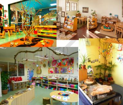 Some Reggio Emilia inspired classrooms.