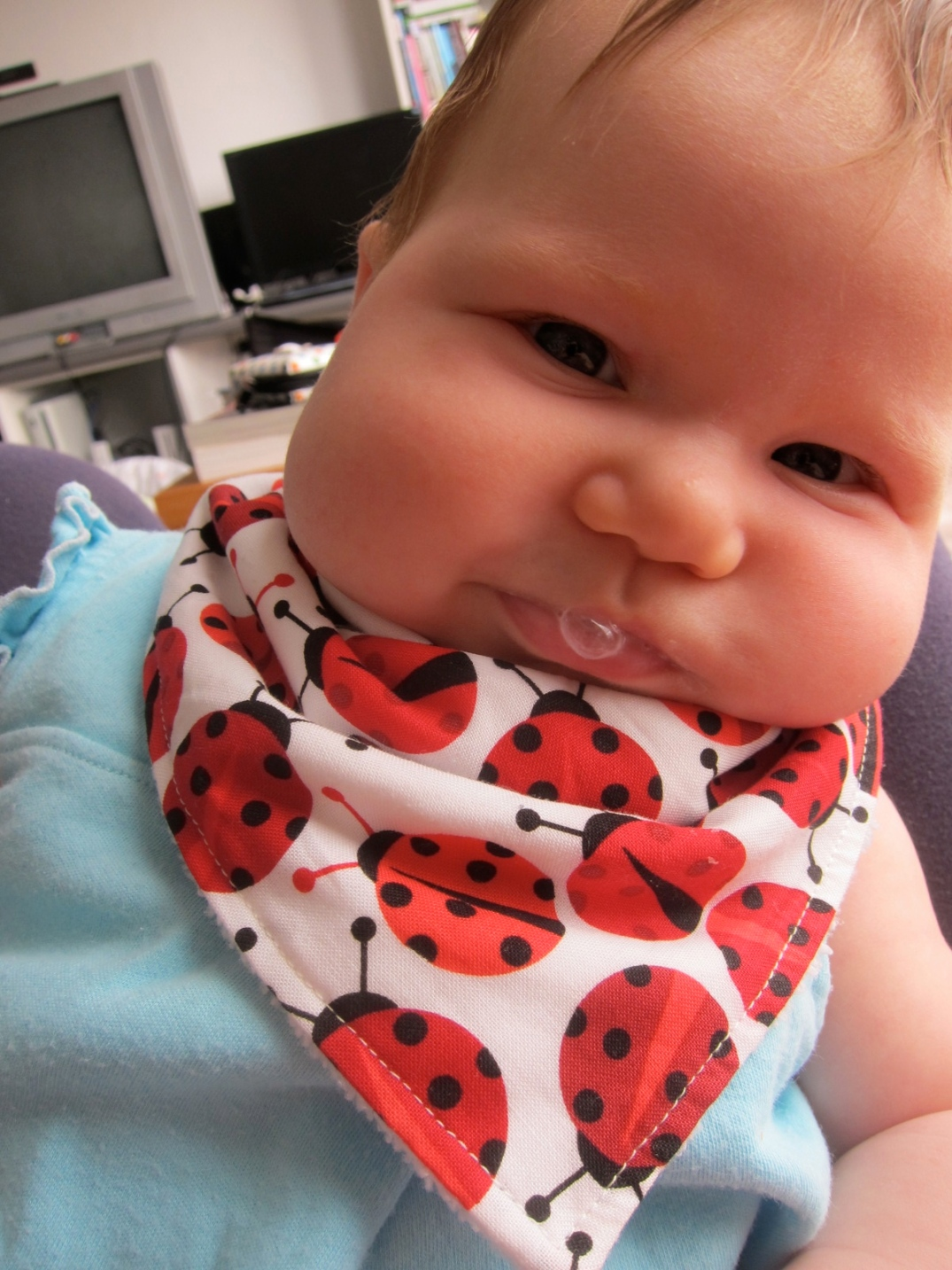 """These are the cheeks of a baby who loved her """"baba""""."""