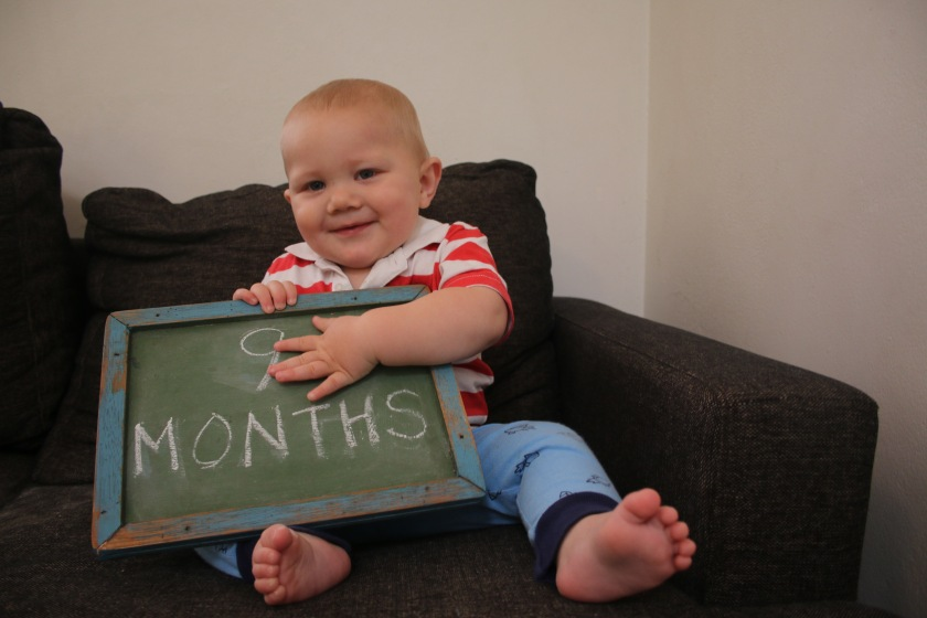When you're the second child, your mum sometimes  forgets to take your 7 and 8 month photos. Whoops. That's life, kid.